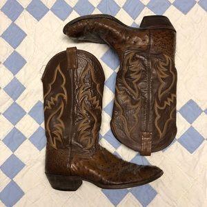 3fb6b9ae79b Nocona Ostrich Skin Boots